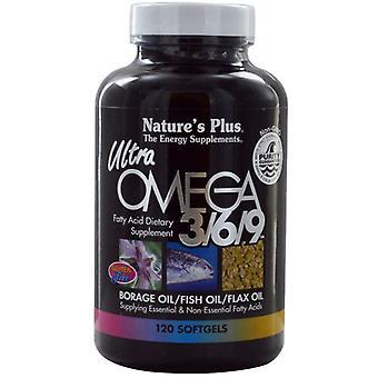 Nature's Plus Ultra Omega 3-6-9 1200mg Softgels 120 (3969)