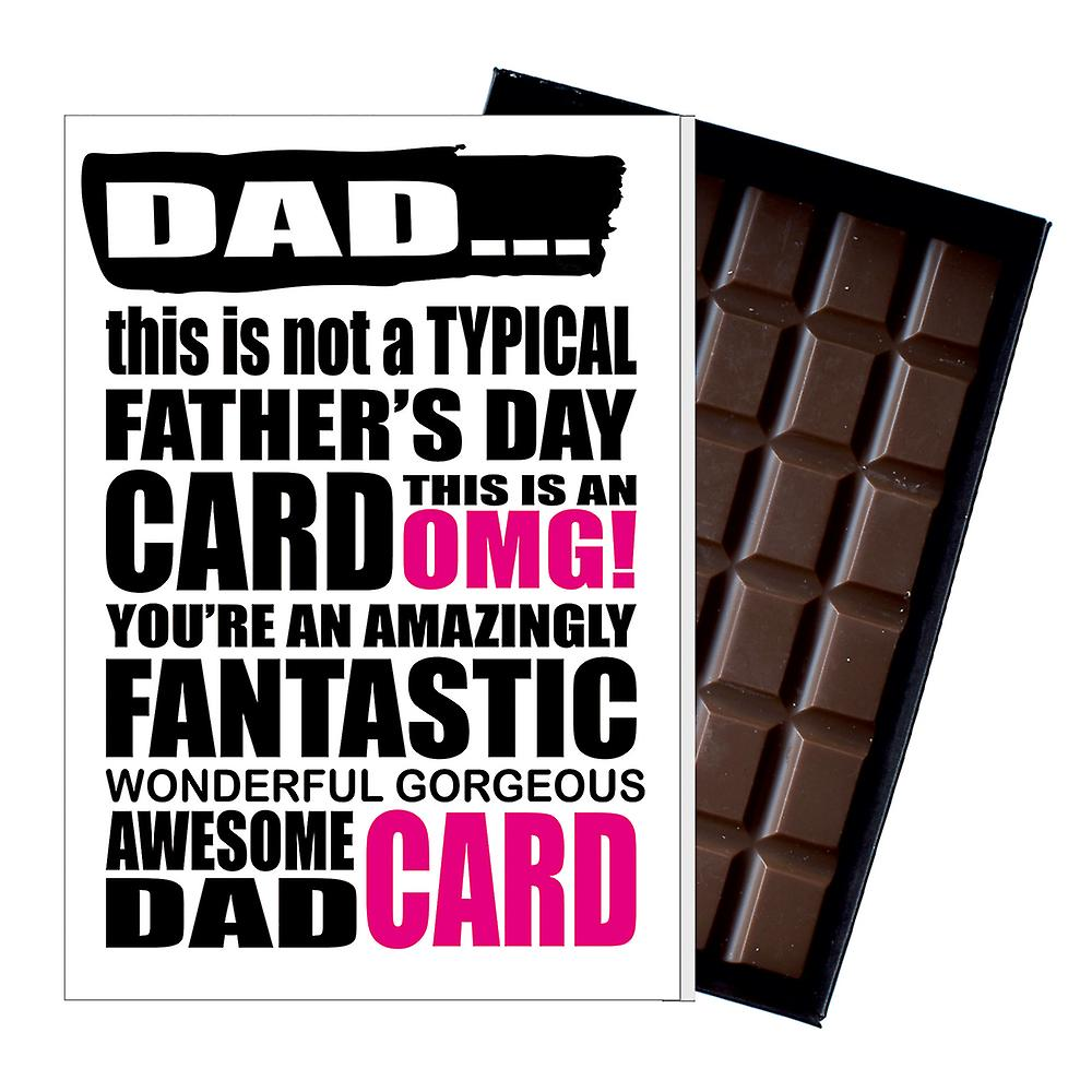 Funny Father's Day Gift Silly Chocolate Present Rude Card For Dad DADIYF102