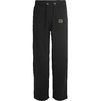 Royal Norfolk regiment-licenseret British Army broderet åbne hem sweatpants/jogging bunde