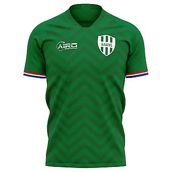 2020-2021 Saint Etienne Home Concept Football Shirt - Adulte Manches longues