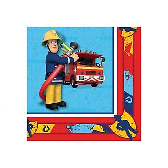 Liragram 20 napkins Fireman Sam (Babies and Children , Costumes)