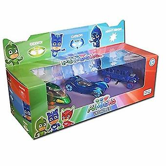 3-Pack PJ Masks the Pyjama heroes cars metal Gecko cat boy Night Ninja