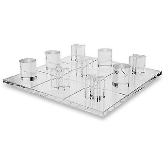 OnDisplay 3D Luxe Acrylic Tic Tac Toe Set - Luxury Executive Desktop Board Game