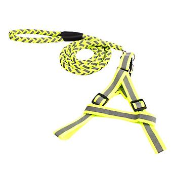 Braided strong nylon leash with reflector, three different sizes, green