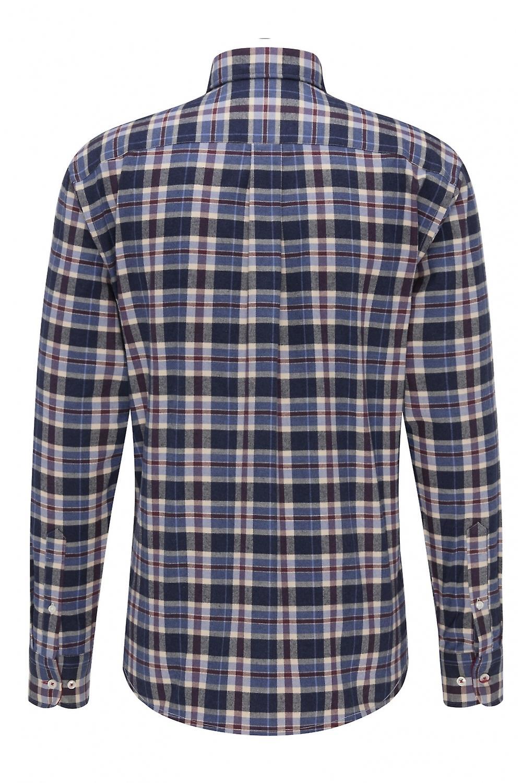 Fynch-Hatton Fynch-hatton Flannel Shirt Navy Check