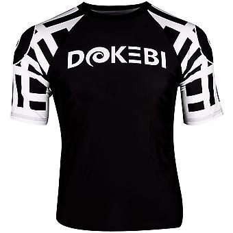 Dokebi Ghost Ranked Short Sleeve BJJ Rashguard - Weiß