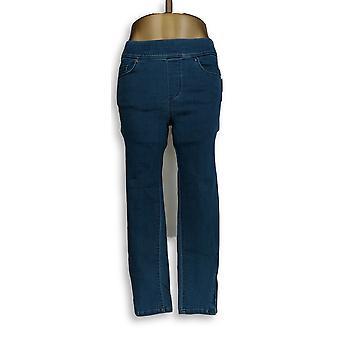 Martha Stewart Women's Petite Jeans Knit Denim Ankle Blue A351437