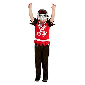 Gutter Halloween zombie fotballspiller Fancy Dress drakt