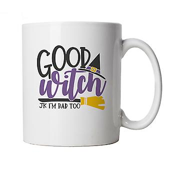 Good Witch Mug | Halloween Fancy Dress Costume Trick Or Treat | Hallows Eve Ghost Pumpkin Witch Trick Treat Spooky | Halloween Cup Gift