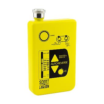 Scott and Lawson Cassette Player Hip Flask Stainless Steel