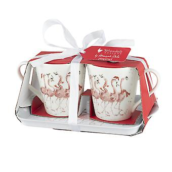 Wrendale Designs Flamingle Bells Mug and Tray Set