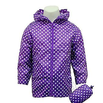 Toddlers Printed Showerproof Packaway Cagoule