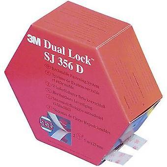3M SJ 356D Dual Lock Hook-and-loop tape stick-on Mushroom hooks (L x W) 5000 mm x 25 mm Translucent 1 Pair