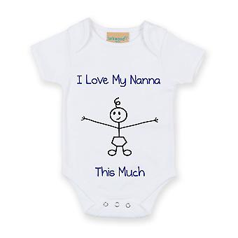 I Love My Nanna This Much Boys White Baby Grow