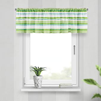 Meesoz Valance - Painted Stripes Green