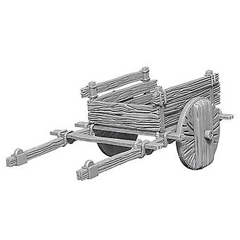 Pathfinder Battles Deep Cuts Unpainted Miniatures 2-Wheel Cart (Pack of 6)
