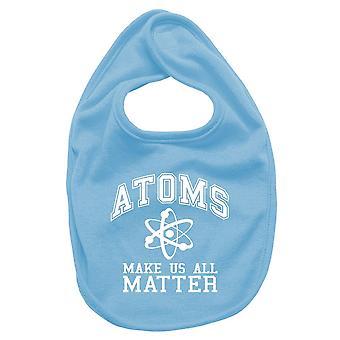 Bavaglino neonato turchese fun1553 geekt atoms make us matter