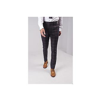 Guide London Check Pattern Trousers