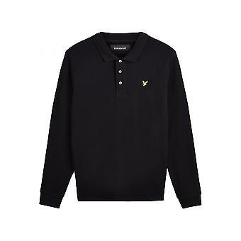 Lyle & Scott Long Sleeve Polo True Black