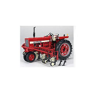 Farmall 544 Gas Narrow Front with Four Row Cultivator Diecast Model Tractor