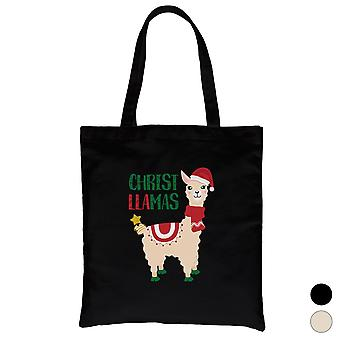 Cristo Llamas divertido Holiday Canvas Bolsa X-mas Regalo