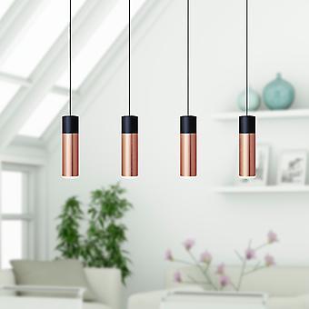 Vela 4 Mini Pendant Lighting Black-Copper