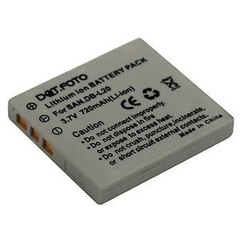 Dot.Foto DB Sanyo-L20, DB-L20AEX, DB-L20EX wymiana baterii - 3, 7V / 720mAh