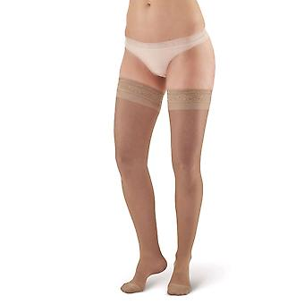 Pebble UK Sheer Compression Thigh Highs [Style P8] Black  XL