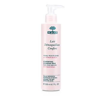 Leche limpiadora reconfortante con pétalos de rosa (piel sensible normal a seca) - 200ml/6.7oz