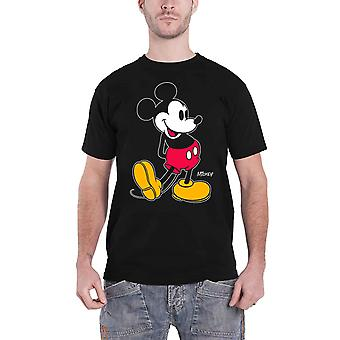 Disney T Shirt Mickey Mouse Kick distressed Logo new Official Mens Black