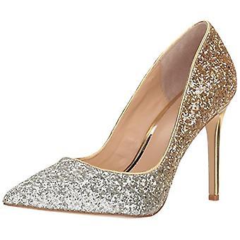 Jewel Badgley Mischka Women's Malta Shoe, silver/gold, M090 M US
