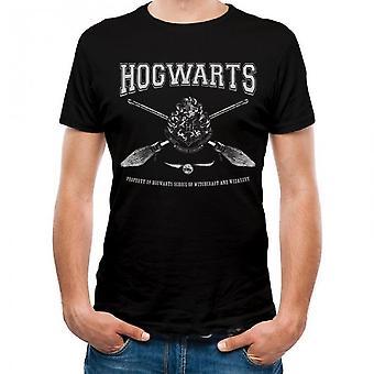 Harry Potter Unisex Voksne Collegiate Galtvort Design T-skjorte