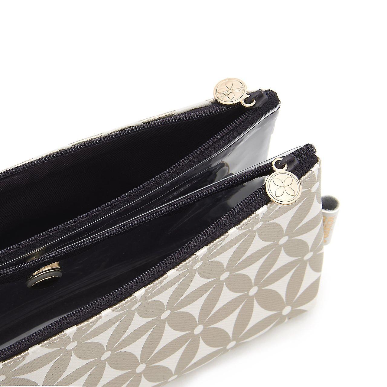 'victoria green' lauren folding makeup bag in starflower gold