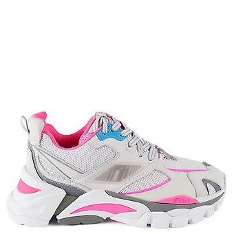 Ash FLEX Trainers White Leather & Pink Mesh