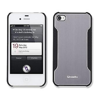 Qmadix Snap-On Face Plate for Apple iPhone 4 - Metalix Gray