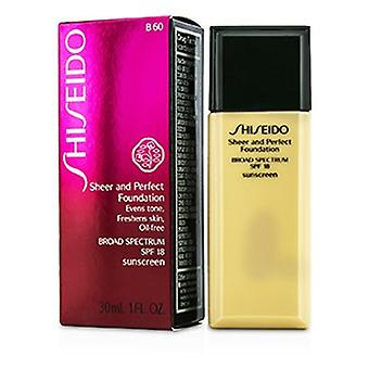 Shiseido Sheer & Shiseido Shiseido Shis Perfect Foundation Spf 18 - # B60 Natural Deep Beige 30ml/1oz