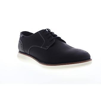 G.H. Bass Randell Wx  Mens Black Leather Plain Toe Oxfords Shoes