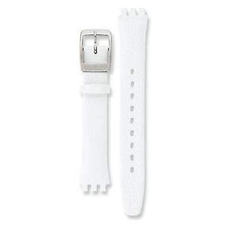 Authentic swatch watch strap white leather  for irony watch 12mm