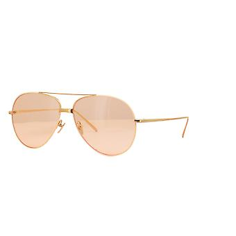 Linda Farrow SALEM LFL817 SUN C16 Black Yellow Gold/Grey Sunglasses