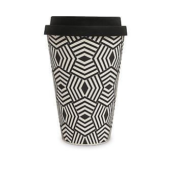 History & Heraldry Bamboo Eco Travel Mug - Geometric Pattern