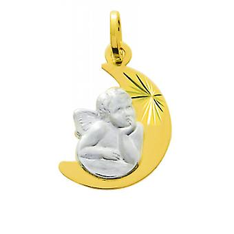 M daille angelo Oro 750/1000 rodio giallo (18K)