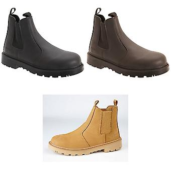 Grafters Mens Grinder Safety Twin Gusset Leather Dealer Boots
