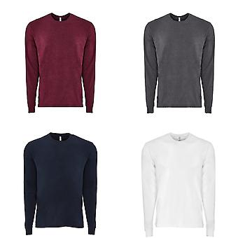 Next Level Adults Unisex Suede Feel Long Sleeve Crew T-Shirt