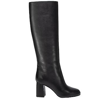Red Valentino Sq0s0c58piq0no Women's Black Leather Boots