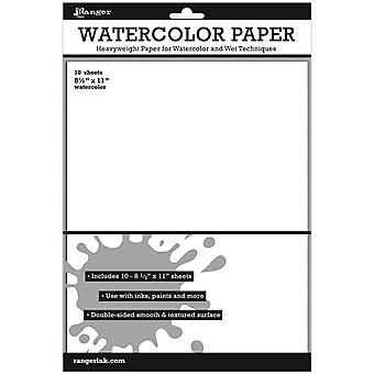 Inkssentials ورقة الألوان المائية 10/Pkg - أبيض 8.5 & ونقلت؛X11 & ونقلت;