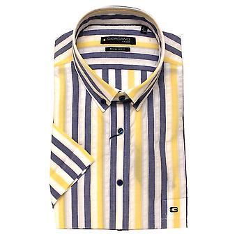 BAILEYS GIORDANO Giordano blå og gul skjorte 6104