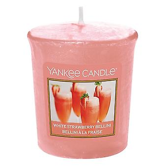 Yankee Candle Votive Candle White Strawberry Bellini