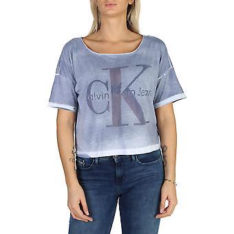 كالفن كلاين الأصلي المرأة طوال العام تي شيرت -- اللون الأزرق 38188