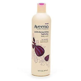 Aveeno positively nourishing wash, hydrating fig + shea butter, 16 oz