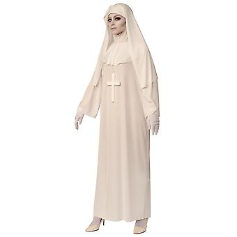 White Nun Religious Horror Ghost Scary Mary Halloween Adult Womens Costume STD